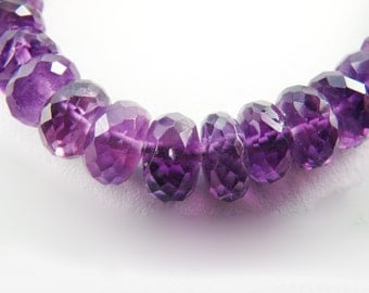 Faceted African Amethyst Bracelet with Nickel Free Sterling Silver findings, Gemstone Jewelry, AAW1