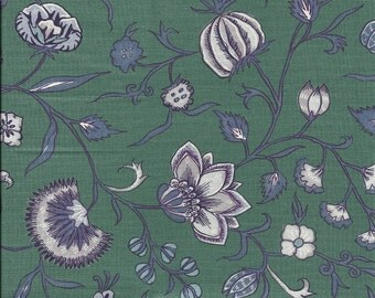 Dutch Chintz  - Wilhelmina Green Mauve FQ