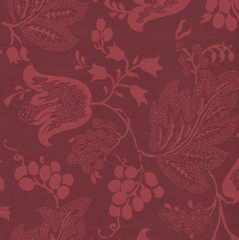 dutch chintz ton sur ton bordeaux fq from motifsbyhand. Black Bedroom Furniture Sets. Home Design Ideas