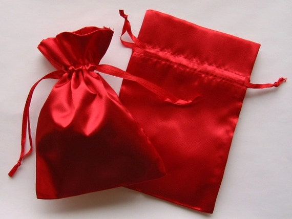 Red Wedding Gift Bags : ... Red Satin Favor Bags, For Wedding Favors, Baby Shower, Jewelry, Gifts