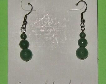 GREEN ADVENTURINE BEAD earrings