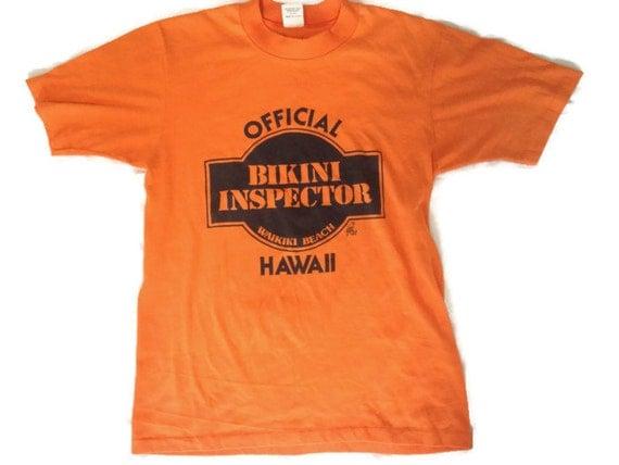80's Official Bikini Inspector T-shirt / Waikiki Beach