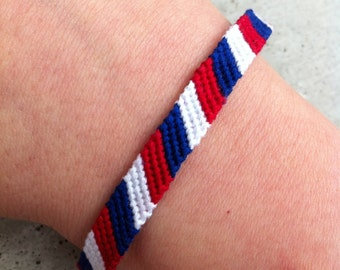 The French Flag Friendship Bracelet