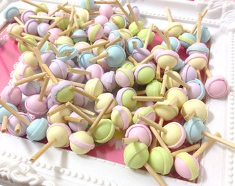 Sweet Cabochon - Lolly Pop Mix Colors 20pcs -  For Sweet Deco, Dollhouse, Miniature - LOT095
