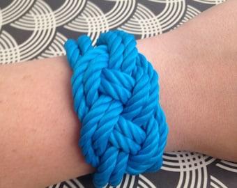 Nautical Knot Bracelet Rope Bracelet-Electric Blue