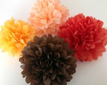 Set of 18 tissue paper pom poms,party poms,pomsparty/wedding poms/party decor/birthday decorations/hanging pompoms/paper poms/nursery pompom