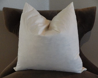 "20 inch Feather Pillow Insert - 20 x 20 Feather Pillow Form - 20 x 20 Pillow Form - 20"" Square Pillow Form"