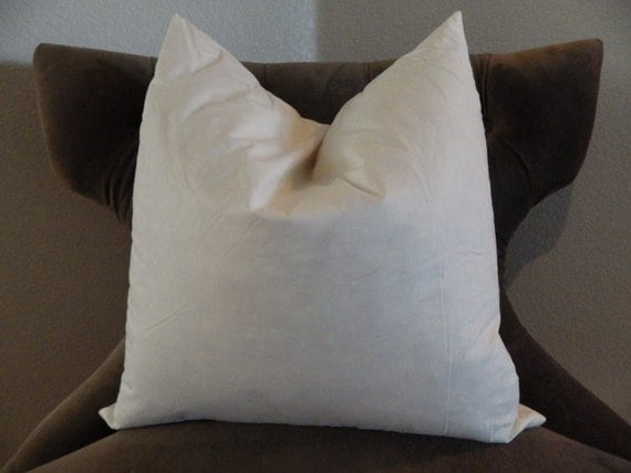 20 in. Square Pillow Insert by SIS. $28 Add To Cart. FREE Shipping on orders $49+ Earn 5% in Home Rewards. Product Overview. Specifications. Delivery. Sized to fit 20 square inch pillow covers; Soft, supple feel; Polyester fiber fill; Removable cover with zipper closure; Cream colored fabric; More Product Info. Dimensions 22L x 22W x.