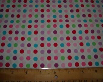 Per yard, multi color dot fabric