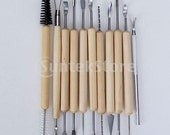 11 pcs Pottery Clay Sculpture Carving Tool Set -Great for clay, paint, foam crafts, wood models, art projects, sculpture and other projects