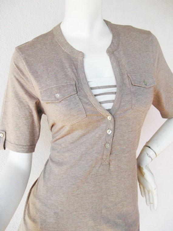 SARA Maternity Shirt/ Nursing Top Breastfeeding / Nursing Clothes NEW Original Design Mocha Pregnancy Clothes