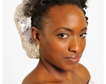 Emile- Wedding Hair Bonnet, Wedding Hat, Wedding hair piece, Wedding head piece, Lace hair piece, Bridal hair accessory, Free shipping