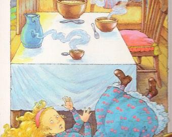 Goldilocks & the three bears - Fairytale - Vintage Children's Book Print