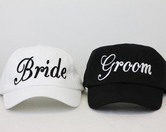 Bride Groom Hat Etsy