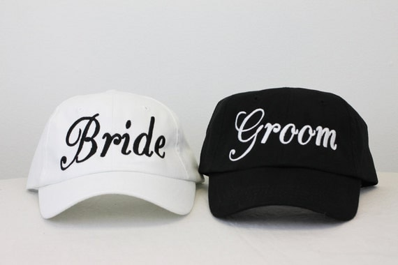 Wedding Bride And Groom Embroidered Baseball Caps