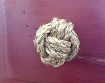 Simply Handcrafted - Set of 2 Nautical Sisal Rope Knobs/Drawer Pulls