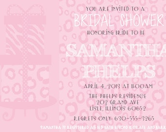 Bridal Shower Invitation (Digital Print File)