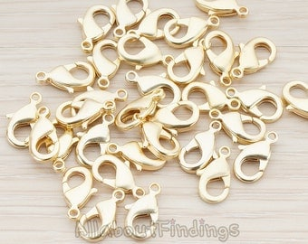 BSC151-MG // Matte Gold Plated Medium Size Lobster Clasp, 10 Pc