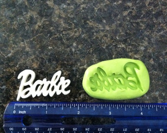 Barbie word silicone mold
