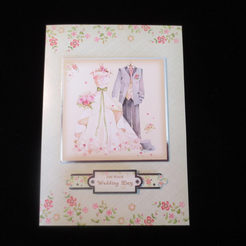 Beautiful Light Green Wedding Day Card