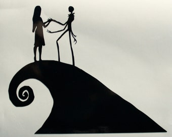 The Nightmare Before Christmas Jack and Sally Decal