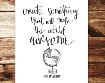 Create Something Awesome Print