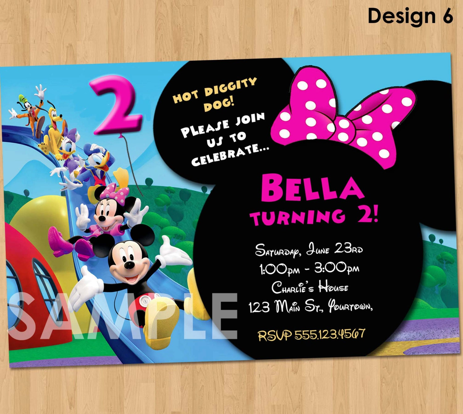 Minnie Mickey Mouse Clubhouse Invitation Printable Birthday