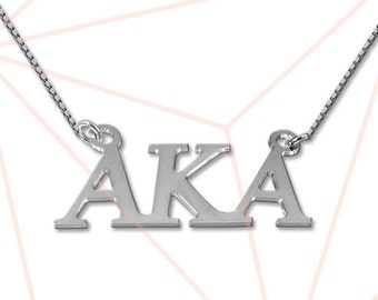 Sterling silver Personalized Greek Name Necklace