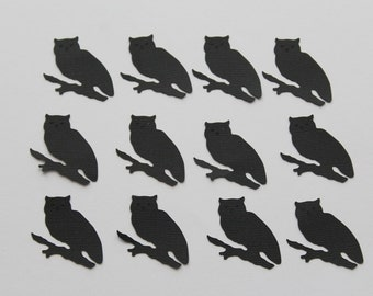 12 Owl Die Cut - Scrapbooking - Card Making - Holiday Decor - Halloween