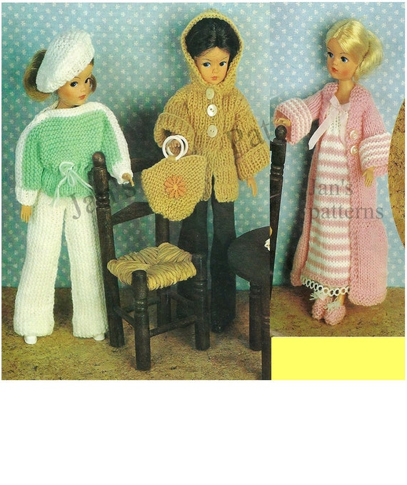 Simple Knitting Patterns For Scarves : Sindy Barbie Fashion Dolls Clothes 3 by knittingpatterns4you