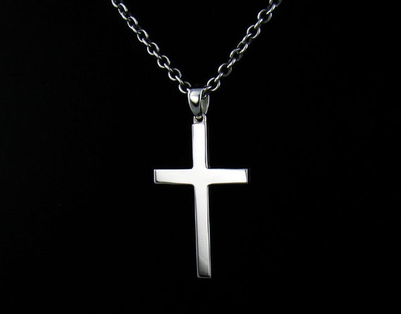 p315sc mens sterling silver 925 simple cross by authfashion