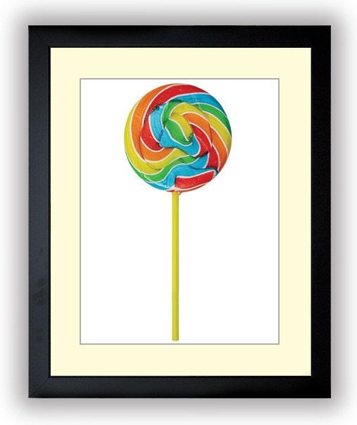 Lollipop Sucker Swirl Kids Room Nursery Art Nursery Print Child Baby Art Print Pink Kids Room Wall A