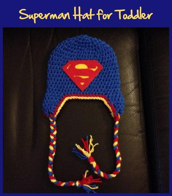 Items similar to Superman Toddler Crochet Hat Pattern on Etsy