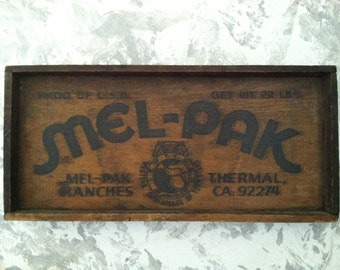 Vintage Mel-Pak Ranches Western Conference of Teamsters Wood Plaque Sign