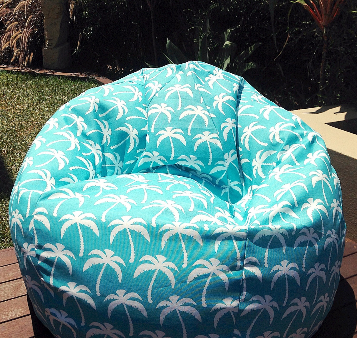 Outdoor Bean Bag Palm Springs Turquoise Cool Funky Retro