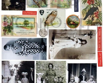 Halloween Stuff Number 7 Digital Download Collage Sheet