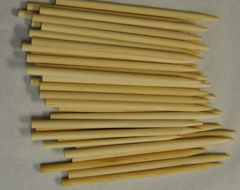 "50ct Candy Apple Sticks Wood Skewers 5.5"" x 1/4"