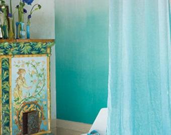Ombre Cyan Tie Dye curtain