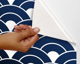 Removable self-adhesive modern vinyl Wallpaper wall sticker - Rising suns pattern C003