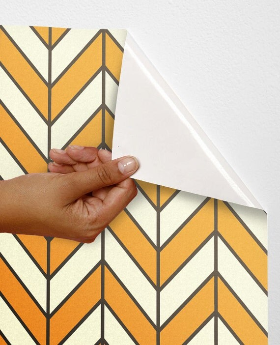 Geometric Self Adhesive Wallpaper Wall Decor Sticker Chevron
