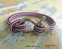 Sailwinds Nautical Rope Bracelet - Purple Windjammer Bracelet for Sailors, Surfers, Kayakers and Other Ocean Sports & Beach Enthusiasts