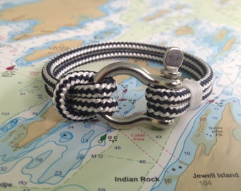 Sailwinds Nautical Rope Bracelet - Blue Windjammer Bracelet for Sailors, Surfers, Kayakers and Other Ocean Sports & Beach Enthusiasts