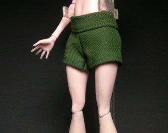 Dolls trousers short pants for Monster high doll - Dark green