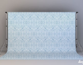 Powder Blue Damask - Photography Backdrop