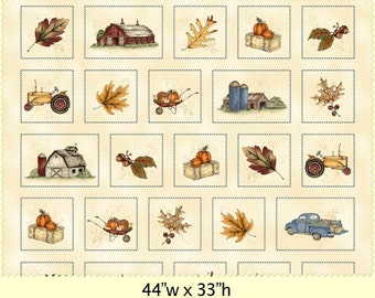Fields of Gold Panel Maywood Studio, Rustic Barns, Tractors, Trucks, & Leaves