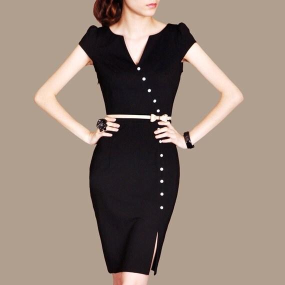 Black Formal Dress Custom Made Dress Vintage Elegant by ...