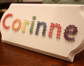 Custom String Art Name Plaque - Up to 7 letters - Multi-Colored