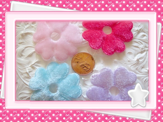 0: )- CABOCHON -( Very Soft Felt Flowers Large
