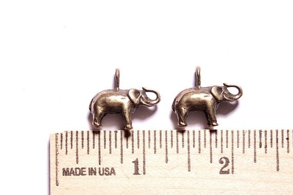 Elephant charms - Antique bronze pendants for necklaces, earrings or bracelets