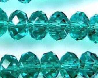 Dark Green Bead, Swarovski Crystal, Supplies, Jewelry making, 15 pc